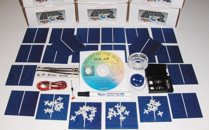 Learn to build your own solar cells panels diy kit Awesome for