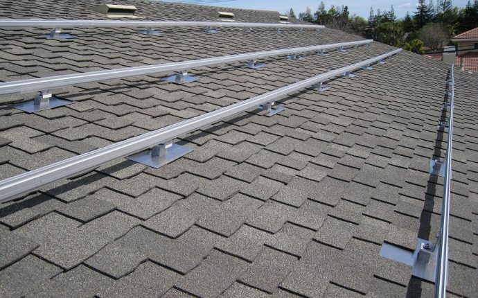Solar panel mounting system for shingle roof, for 6 full size