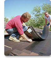 Photovoltaic (solar cell) Systems: Solar shingles are installed on a rooftop.